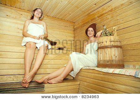 Women Is Taking Steam-bath