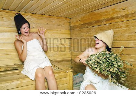 Women In  Sauna