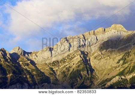 Sunrise in, Partacua Mountains, Tena Valley, Pyrenees, Huesca, Aragon, Spain
