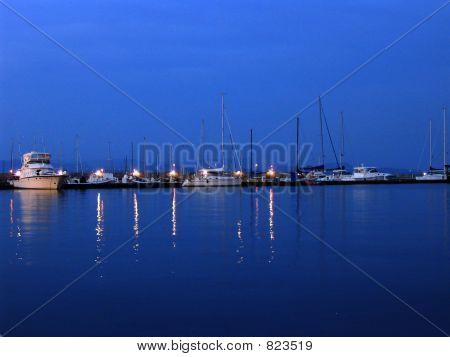 Sail Boats at Night