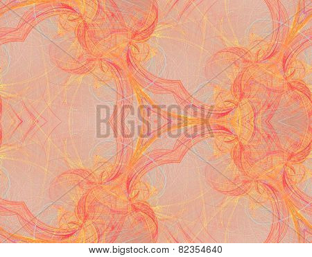 Seamless Kaleidoscopic Colored Line Pattern
