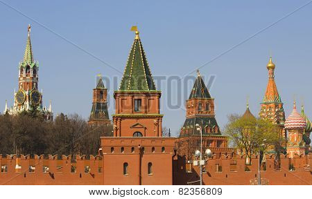 Moscow, Kremlin Towers