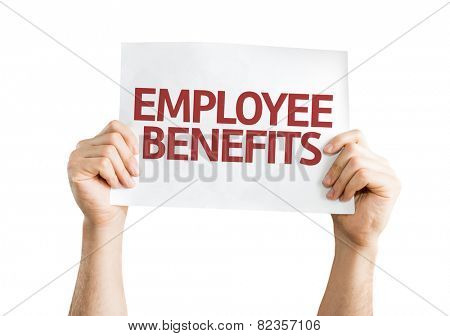Employee Benefits card isolated on white background