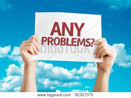 Any Problems? card with sky background
