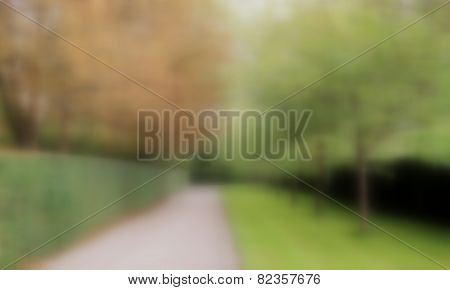 Pedestrian walkway with blurred effect background