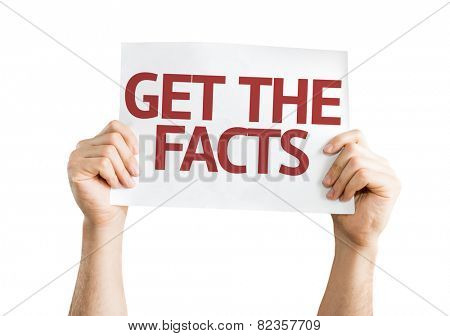 Get the Facts card isolated on white background
