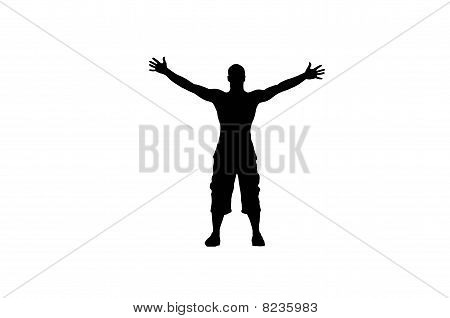 men with open arms