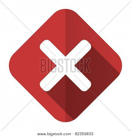cancel flat icon x sign