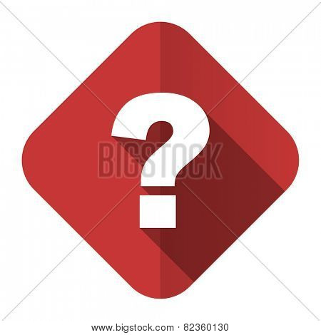 question mark flat icon ask sign