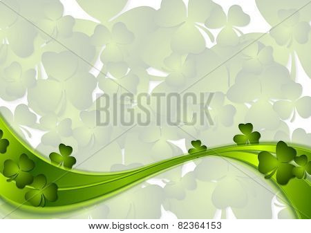 St. Patricks Day abstract wave background. Vector design