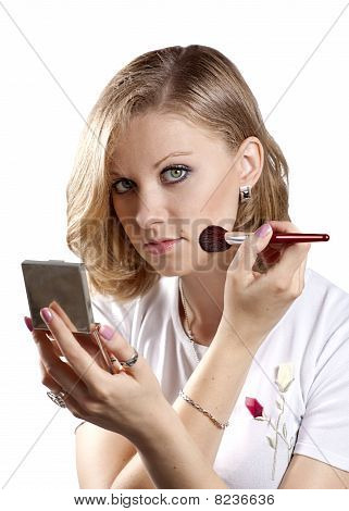 Woman Is Making Make-up