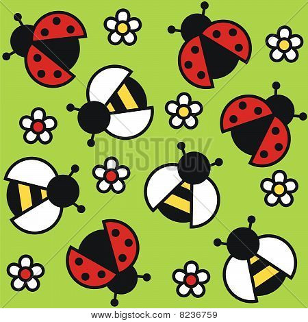 lady bug and bee