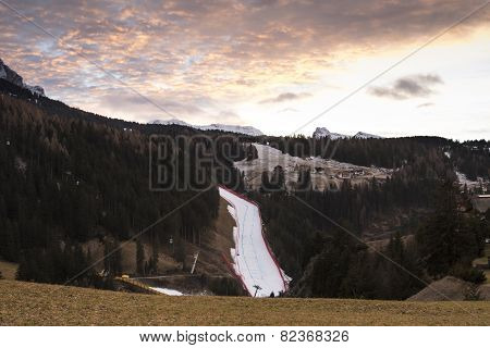 World Ski Men Ita Downhill Race