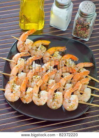 shrimps on skewers