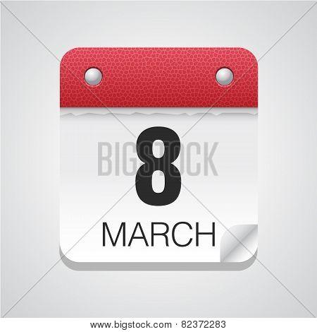 8 march calendar icon