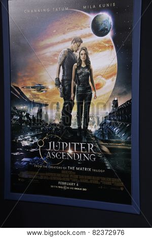 LOS ANGELES - FEB 2:  Jupiter Ascending Poster at the
