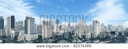 Bangkok business center panorama view.