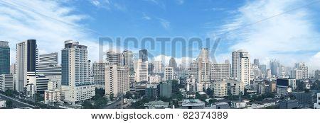 Bangkok business center panorama view.