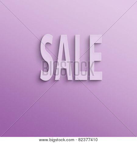 text on the wall or paper, sale