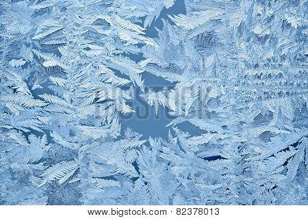 Beautiful Frost Patterns On Glass