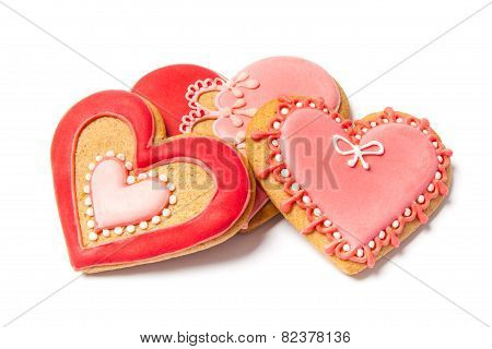Valentines Gingerbreads - Stock Photo