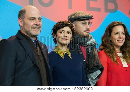 BERLIN- FEBRUARY, 05: International Jury of Berlinale. Press Conference at Hyatt Hotel, February, 05, 2015 in Berlin, Germany