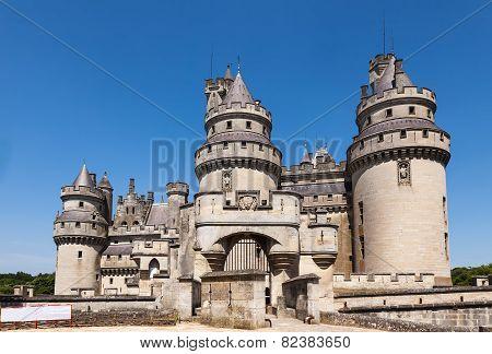 Castle Of Pierrefonds In Oise, France