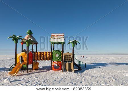 Winter, Children's Playground S In The Snow