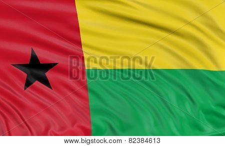3D Guinea-Bissau flag