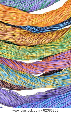 Colored wires of computer networks