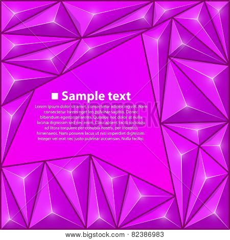 Vector background with triangles. Purple