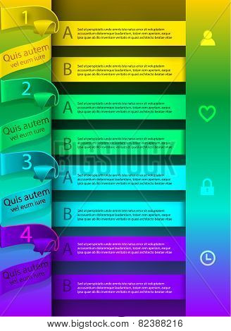 bright, colorful template Infographic in a could tones