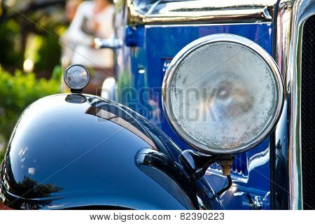 Blue Retro Car