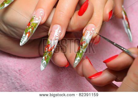 Nail Art Work In Process