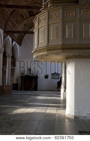 Pulpit In Old Church