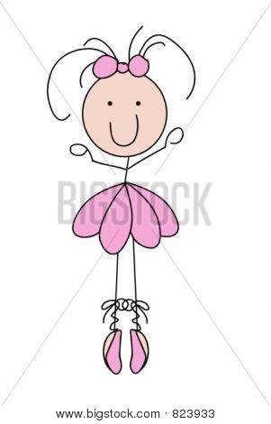 Stick Figure Ballerina Ballet