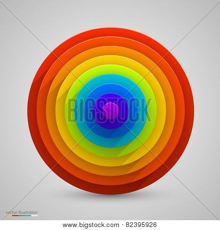 Spherical rainbow. Vector
