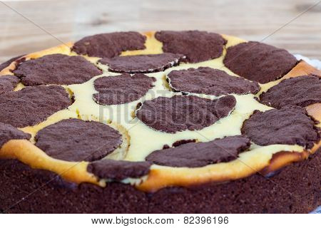 Russian Plucking Cake On Rustic Wood Background