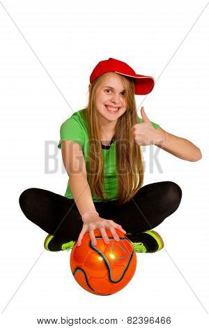 Sitting Girl With Ball
