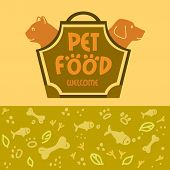 foto of dog tracks  - Logo with animals for pet food shop - JPG