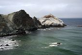 picture of pch  - Mountains along the Pacific Coast Highway in California - JPG
