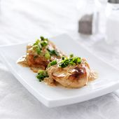 picture of green onion  - chicken with green onions and creamy sauce - JPG