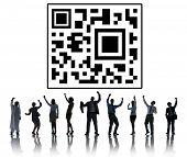 foto of qr codes  - Qr Code Marketing Data Concept - JPG