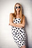 pic of dots  - Fashionable lady in polka - JPG