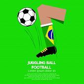 picture of juggling  - Juggling Ball Football or Soccer Illustration - JPG