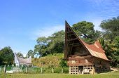 image of southeast  - Traditional Batak house on Samosir island Sumatra Indonesia Southeast Asia - JPG