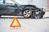 image of accident emergency  - car crash accident on street - JPG
