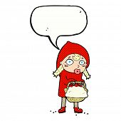 picture of little red riding hood  - little red riding hood cartoon with speech bubble - JPG