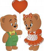 image of cute bears  - Vector illustration - JPG