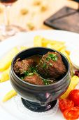 picture of boeuf  - meat in the pot - JPG